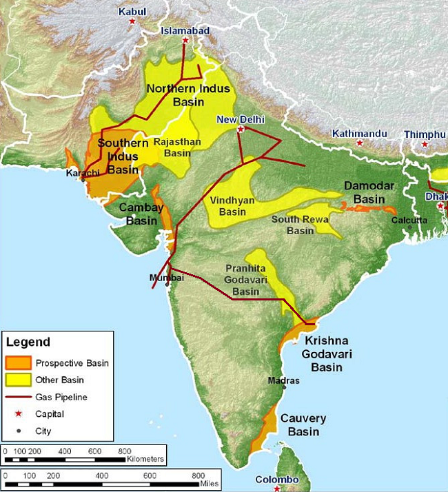 The Ons Producing Interests Are Located In The Oil Rich Cambay Basin In North West India The Offs Deen Dayal West Major Gas Field Discovery Is In